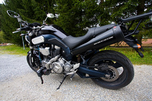 Yamaha MT-01 and a Canon Camera