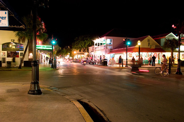 Duval street at night