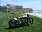 Custom bike on the beach