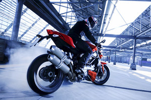 Ducati Streetfighter in action