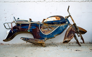 Old motorcycle broken
