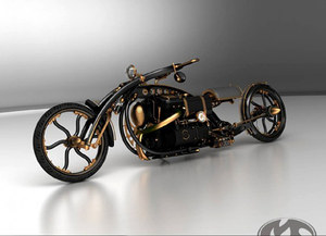 Steampunk chopper from Russia
