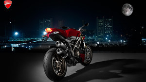 Ducati at night