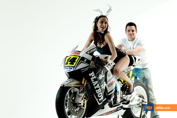 LCR Honda - Randy de Puniet and Lauren Vickers