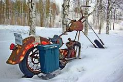 Motorbike Mailbox
