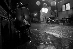 Vespa at Night