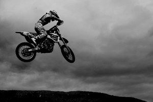 mc_Motocross Black and White