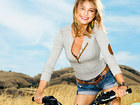 Emily Vancamp and Motorbike